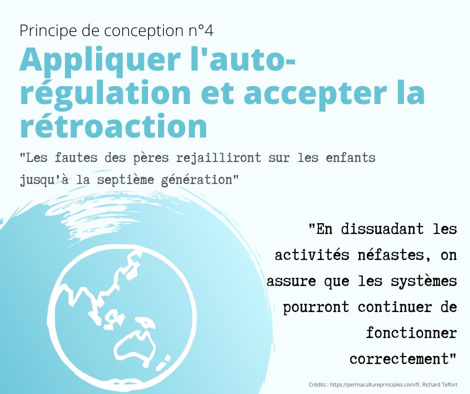 illustration principe de conception n°4 en permaculture : appliquer l'autorégulation et accepter les rétroactions